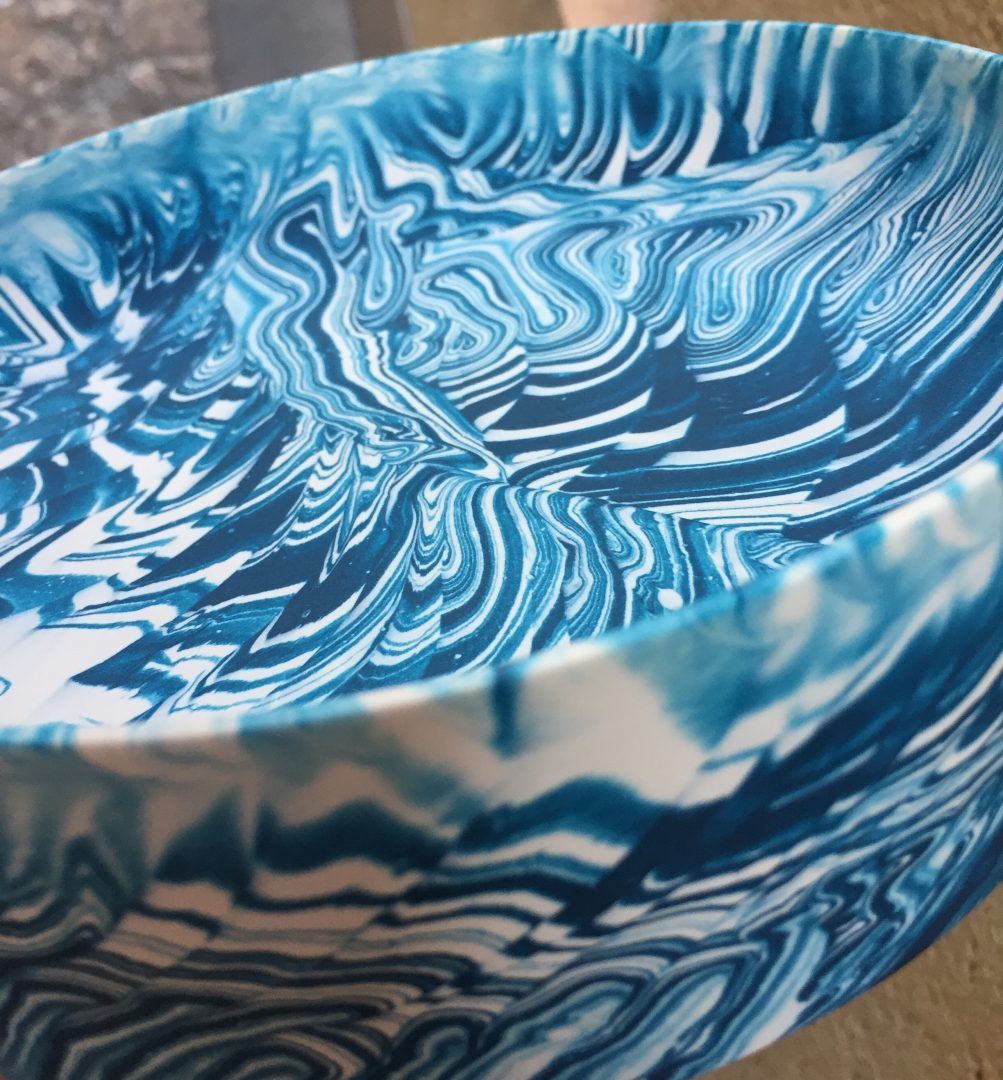Poured bowl blue, Troels Flensted